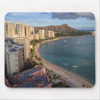 Diamond Head, Waikiki Beach, Hawaii Mouse Pad
