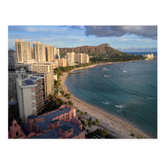 Diamond Head, Waikiki Beach, Hawaii Postcard
