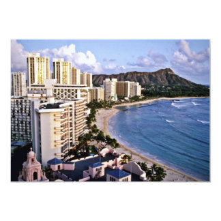 Diamond Head - Waikiki Beach, Oahu Custom Invites