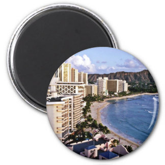 Diamond Head - Waikiki Beach, Oahu Magnet