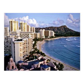 Diamond Head - Waikiki Beach, Oahu Postcard