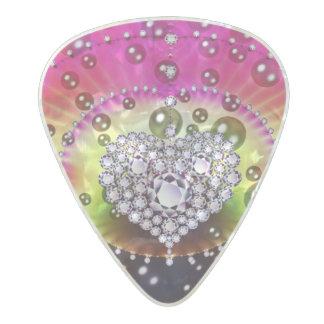 Diamond Heart Bling Guitar Pick