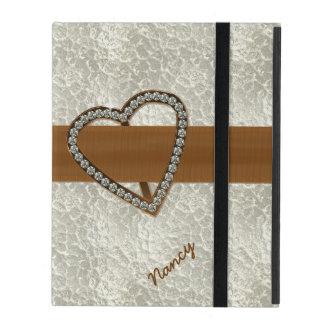 Diamond Heart Custom iPad 2/3/4 Case