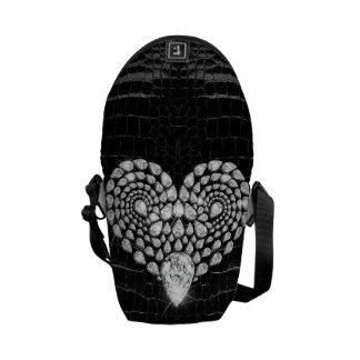 Diamond Heart Messenger Bag