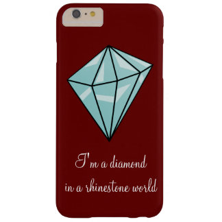 Diamond in a rhinestone world iPhone case