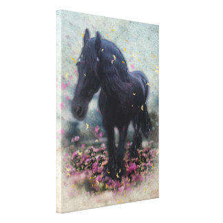 DIAMOND in Flowers ~ Wrapped Canvas