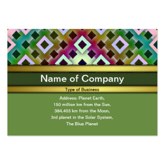 Diamond Inverted Pack Of Chubby Business Cards