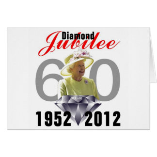 Diamond Jubilee 1952-2012 Greeting Card