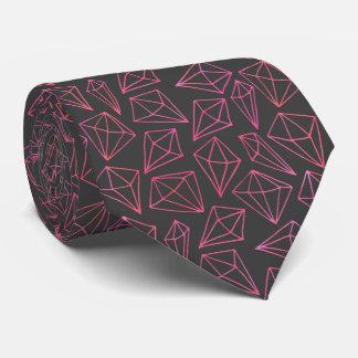 Diamond Life Black and Red Pattern Tie