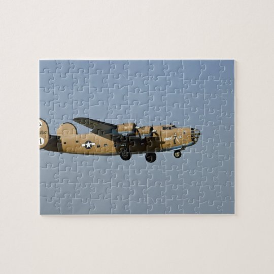 Diamond Lil B-24 Bomber, landing at Oshkosh, Jigsaw Puzzle