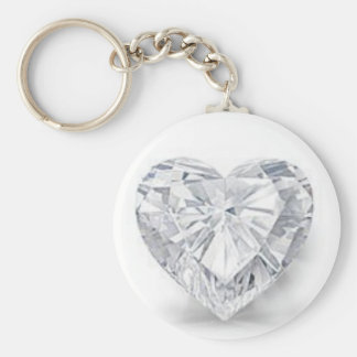 Diamond = Love Basic Round Button Keychain