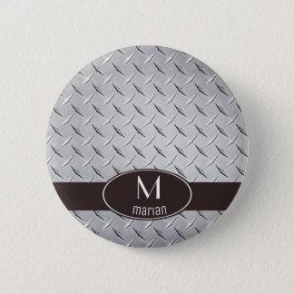 Diamond Metal Plate 2 Inch Round Button