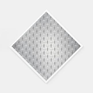 Diamond Metal Plate Disposable Napkin