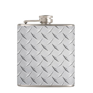 Diamond Metal Plate Hip Flask