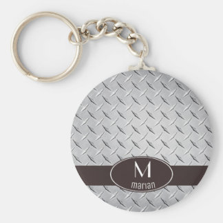 Diamond Metal Plate Keychain