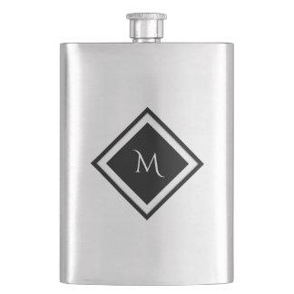 Diamond Monogram Flask