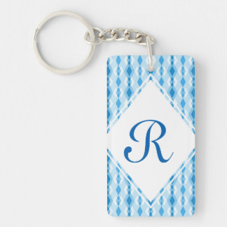 Diamond Monogram Keychain