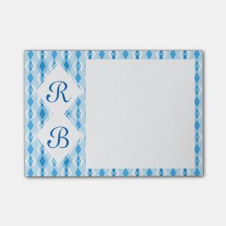 Diamond Monogram Post-it Notes