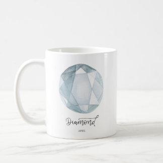 Diamond Mug April Gift