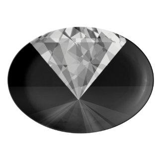 Diamond On Back Porcelain Serving Platter