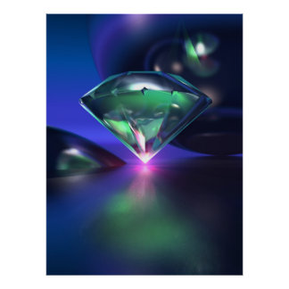 Diamond on purple poster