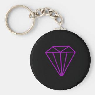 Diamond outline keychain