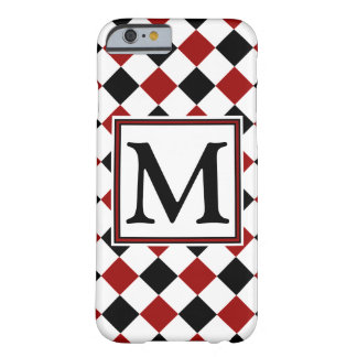 Diamond Pattern #49 Monogrammed Barely There iPhone 6 Case