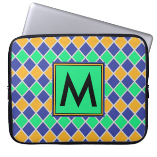Diamond Pattern #81 Monogrammed Laptop Sleeve