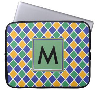 Diamond Pattern #86 Monogrammed Laptop Sleeve