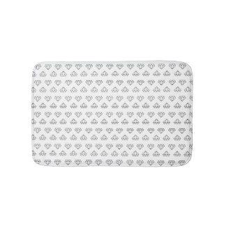 Diamond Pattern Bath Mat