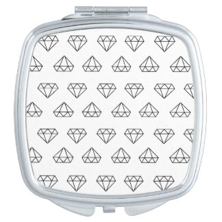 Diamond Pattern Compact Mirror