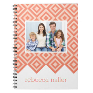 Diamond Pattern Custom Notebook