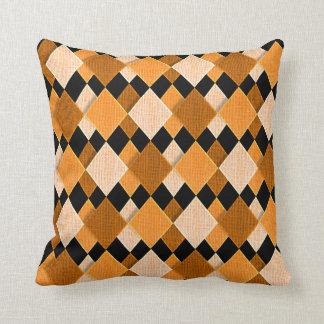 Diamond Pattern Fabric Design Throw Pillow