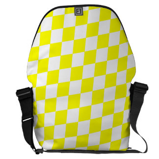 DIAMOND PATTERN in Bright Yellow ~ Courier Bags