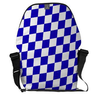 DIAMOND PATTERN in DEEP BLUE ~ Messenger Bags