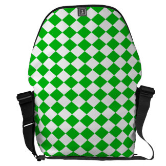 DIAMOND PATTERN in GREEN GREEN.png Messenger Bag
