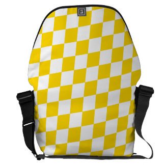 DIAMOND PATTERN in Yellow (banana yellow) ~ Commuter Bag