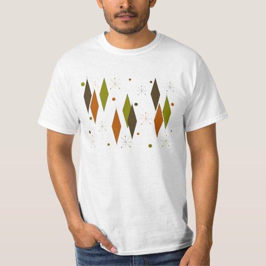 Diamond Pattern Mid-Century Style T-Shirt