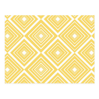 Diamond Pattern Yellow and White Postcard