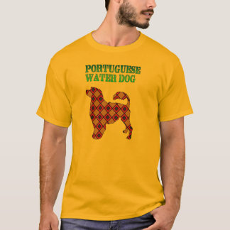Diamond Patterned Portuguese Water Dog T- Shirt