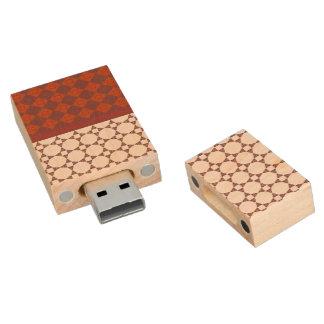 Diamond patterns wood USB 2.0 flash drive