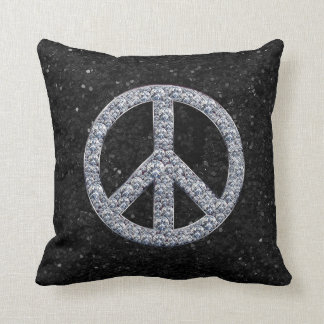 Diamond Peace Sign Pillow