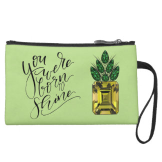 Diamond pineapple clutch wristlet clutches