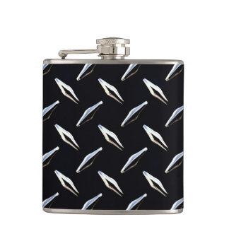 Diamond Plate 3A Wrapped Flask
