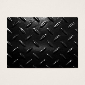 Diamond Plate Background Business Card