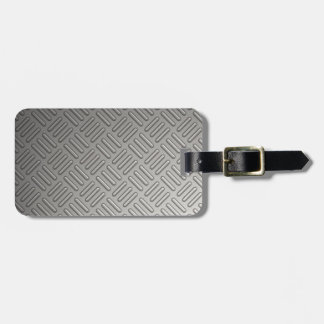 Diamond Plate Faux Pattern Luggage Tag