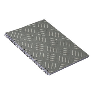 Diamond Plate Stainless Steel Textured Notebooks
