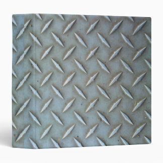 Diamond Plate Steel 3 Ring Binders