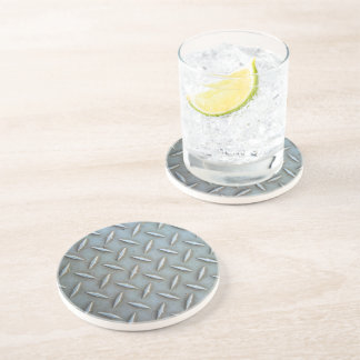 Diamond Plate Steel Coaster