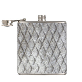 Diamond Plate Steel Flasks